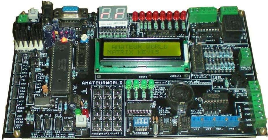 "AMATEUR WORLD AW51V2, 8051 Development Board All Amateur World""s development boards represents irreplaceable tools"