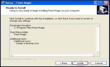 1.Double click on Flash Magic6_30 setup . 2.Click Next. 7. Click install. PAGE — 6 3.ClickI