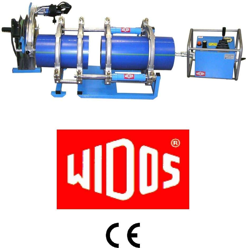 Translation Heating element butt welding machine WIDOS 4900 Keep for further use! Headquarters: D-71254