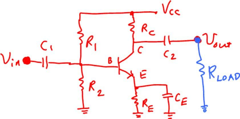 which (indirectly) is used for voltage gain of the circuit. In DC analysis, we assume that