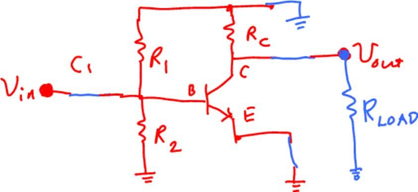 circuit. The AC analysis circuit then looks like this: Since all three CE Amp resistor s