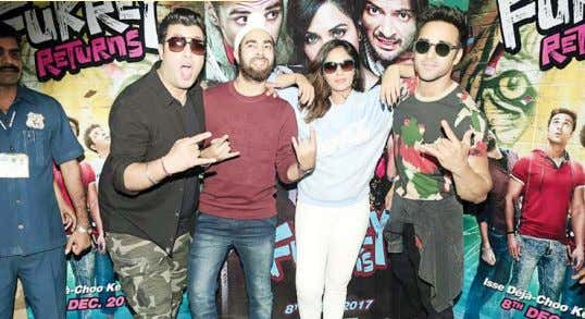 REVIEW 'Fukrey Returns': An entertaining deja vu The cast of ʻFukrey Returns'. S equels are expected