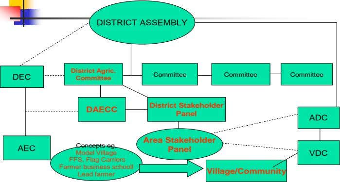 DISTRICT ASSEMBLY District Agric. Committee Committee Committee DEC Committee District Stakeholder DAECC Panel