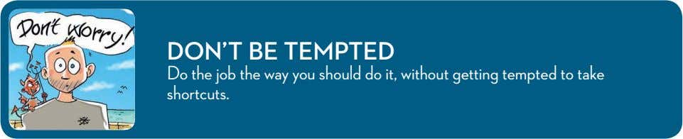 DON'T BE TEMPTED