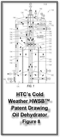 HTC's Cold Weather HWSB™ Patent Drawing Oil Dehydrator Figure 8