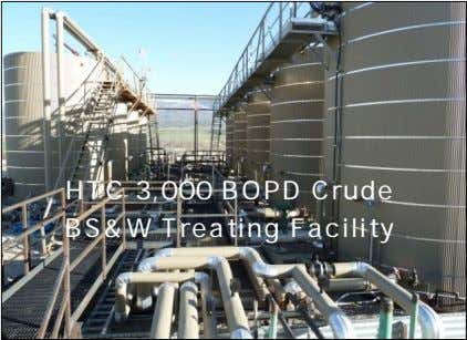 HTC 3,000 BOPD Crude BS&W Treating Facility
