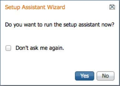 . Select No when asked to run the setup assistant wizard. Step 2: In Administration >
