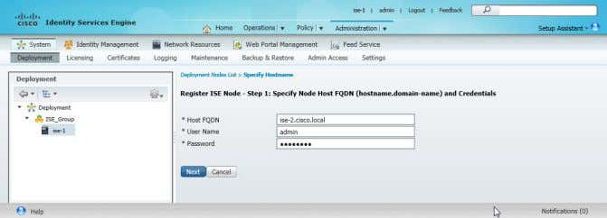 and the credentials for the admin account, and then click Next . Deployment Details August 2014