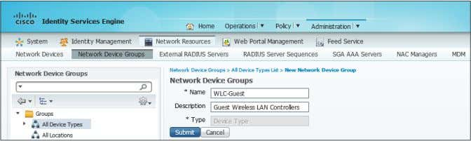 to trigger policy specific to wireless guest users. Step 7: Navigate to Administration > Network Resources