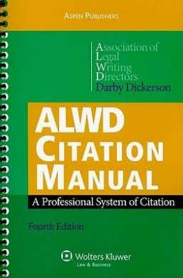 MANUAL  professional system of citation  consistent with Blue Book  filled with examples of