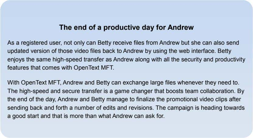 The end of a productive day for Andrew As a registered user, not only can