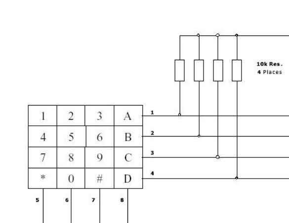 be pressed at any one time). Figure 3 shows the connection of the 4 × 4