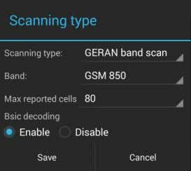 scanning type, tap Add new . Scanning type dialog opens. Tap Scanning type to select between