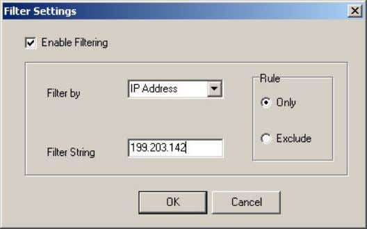 Device List . The Filter Settings window is displayed. Figure 1-7: Filter Settings Window BreezeCONFIG for