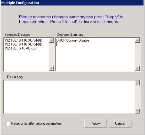 Working in Multiple Configuration Mode Figure 1-12: Multiple Configuration Window 4 The Multiple Configuration window