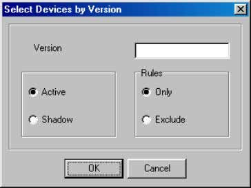 the specified version (by selecting the Exclude option). Figure 1-16: Select Device Window To load new