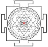and Bhagamalini (symbolizing fire -dissolution). The three angles of the triangle also represent three forms