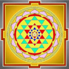 The Yantra too is the Devi. The aim is to realize that oneness, the bliss of