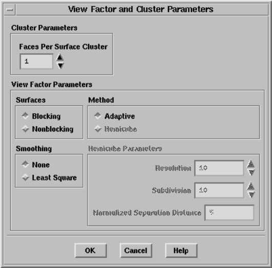 and Cluster Parameters panel will open automatically. ii. Click OK to accept the default settings. The