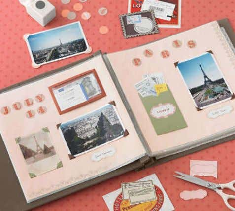Scrapbooking / Aspiration… THEN… Paper / Scissors / Glue NOW… (Pinterest) One-Click to Pin / Share