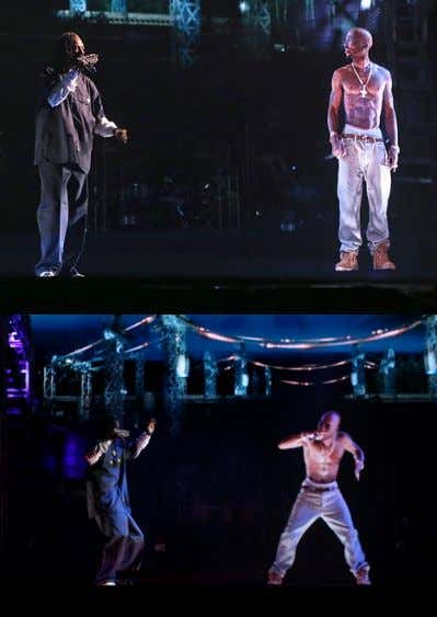 Screen Tributes NOW… (Tupac @ Coachella…) 3D / Life-Like / Programmable Hologram / Bringing Past Icons