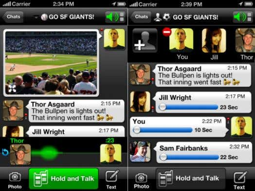 & Range / Intrusive NOW… (Voxer…) Push - To - Talk / Voice Message / Picture