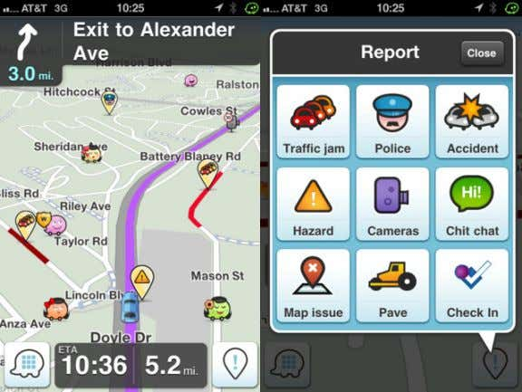 in Car / TV, Radio Reporting of Traffic Info NOW… (Waze) User-Generated Digital Map / Live