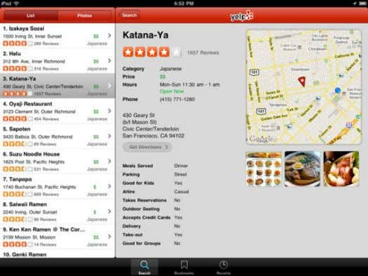 No Easy Search Feature NOW… (Yelp…) User Reviews / Pictures / Recommendations / Location-Aware / Easily