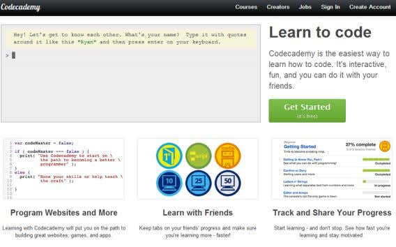Materials NOW… (Codecademy / Coursera / Khan Academy…) Interactive / Online / Accessible by Anyone Anywhere