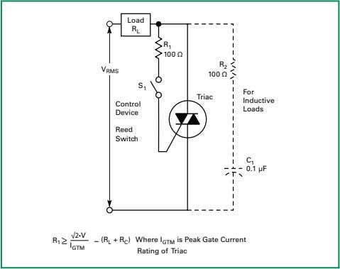 must be equivalent to or greater than line voltage applied. Figure AN1007.1 Basic Triac Static Switch