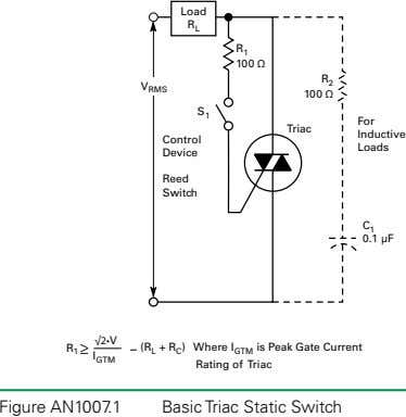 Figure AN1007.1 Basic Triac Static Switch