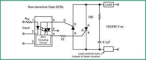 Circuit Load could be here instead of lower location Figure AN1007.15 Zero Crossing Turn-on Non-sensitive SCR