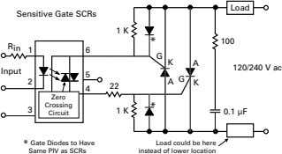 Load Sensitive Gate SCRs 1 K * 100 R in 1 6 G K A