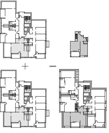 in tower: Maisonettes scale 1:750 Site plan scale 1:3000 Regelgeschoss Haus C Bestand Maisonette Typ A