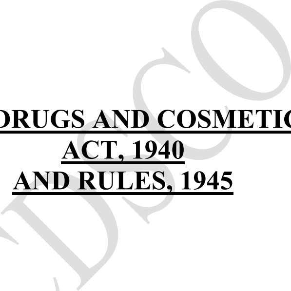 ACT, 1940 AND RULES, 1945