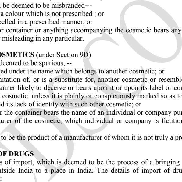 any particular. cosmetic shall be deemed to be misbranded--- if it contains a colour which is