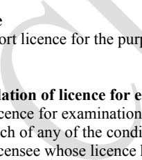 and Public Health, 04- Public Health, 104- Fees and Fines. Licence An import licence for the