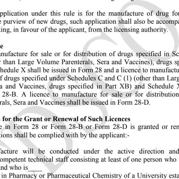 in favour of the applicant, from the licensing authority. Form of Licence A and C (1)