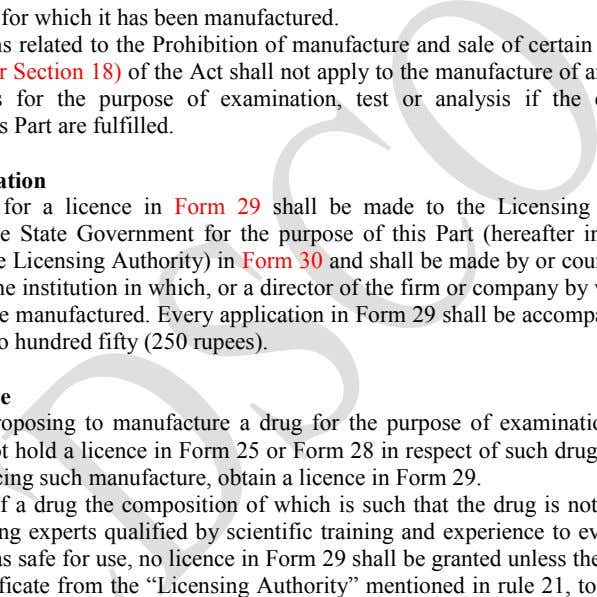 if the conditions prescribed in this Part are fulfilled. Form of application An application for a