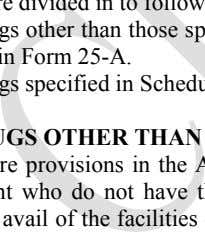 shall be issued in Form 25-A. o Drugs specified in Schedules C and C (1) the