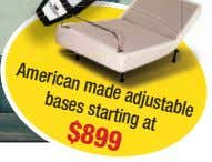 American adjustable bases made starting at $899