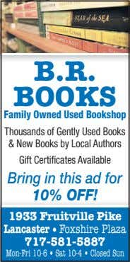 B.R. BOOKS Family Owned Used Bookshop Thousands of Gently Used Books & New Books by
