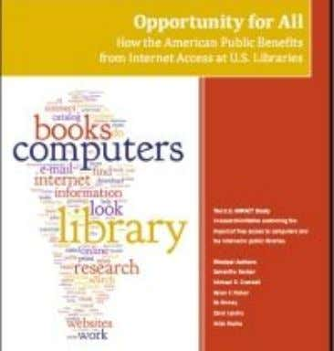 of four), 44% used library computers and Internet access. The report looks at a number of