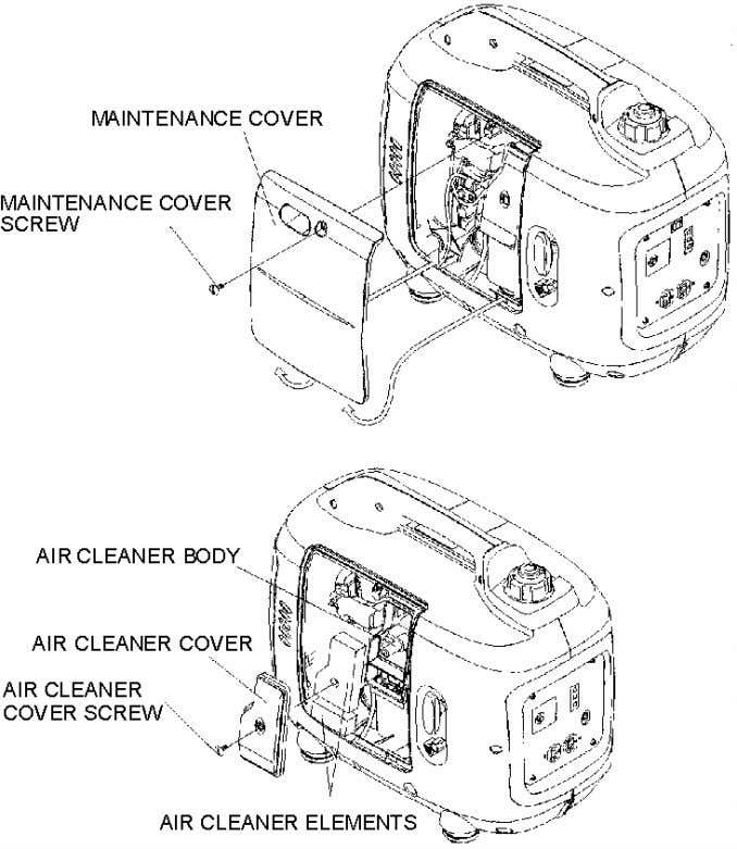 engine wear will result from contaminants, such as dust and dirt, being drawn through the carburetor,