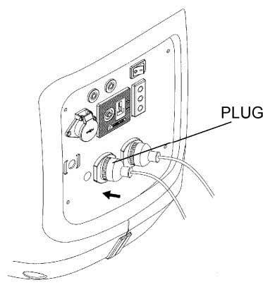 1. Switch off the connected equipment and pull the inserted plug out. 2. Turn the engine