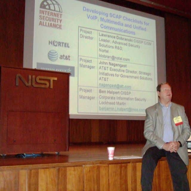 Developing SCAP Automated Security & Assurance for VoIP & Converged Networks September, 2008