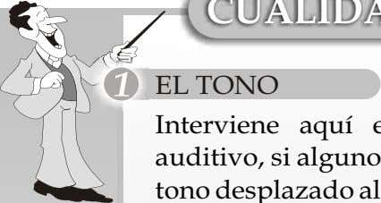 LA INTENSIDAD RESONANCIA EL TONO Interviene aquí el sistema emisor, endocrino y auditivo, si alguno