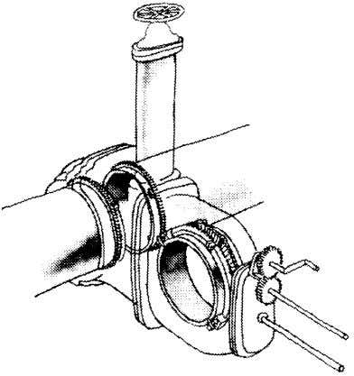 TYPES AND SELECTION OF VALVES 23 © Figure 2–13 Inserting valve ACTUATORS A manual actuator is