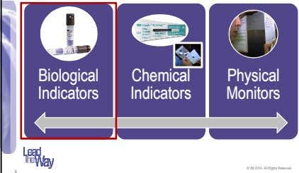 Biological Chemical Physical Indicators Indicators Monitors © 3M 2014. All Rights Reserved. 6
