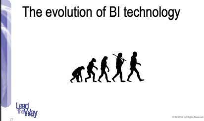 The evolution of BI technology © 3M 2014. All Rights Reserved. 27